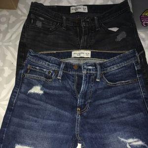 2 Abercrombie jeans shorts